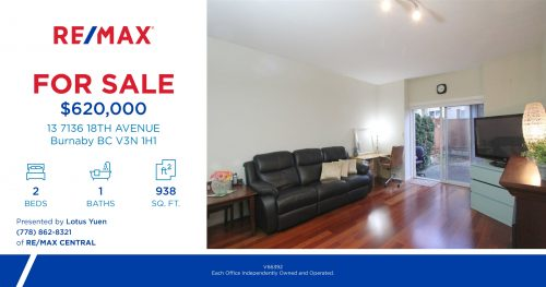 Burnaby Townhouse for Sale:  13 7136 18TH AVE Burnaby
