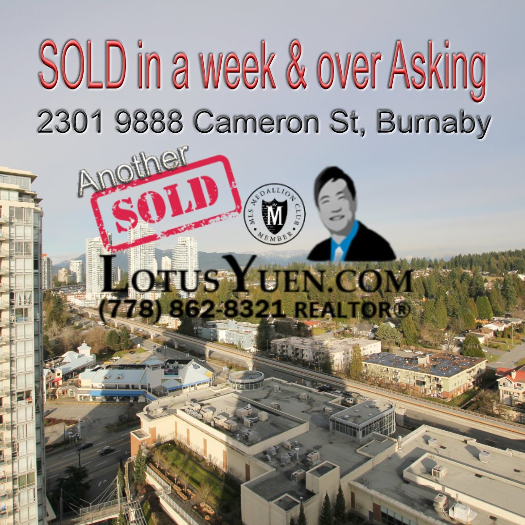 2301 9888 Cameron St Burnaby Condo for Sale